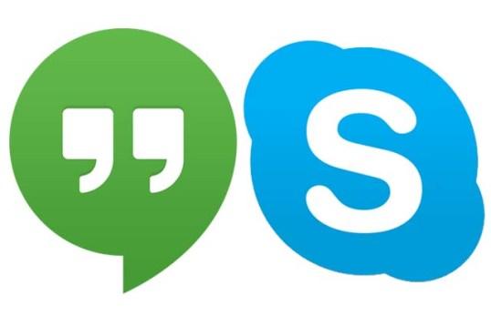 skype or hangout